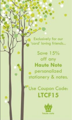 Haute Note - Personalized Stationery & Custom Notes - Coupon Code - LetTheChipsFall.com