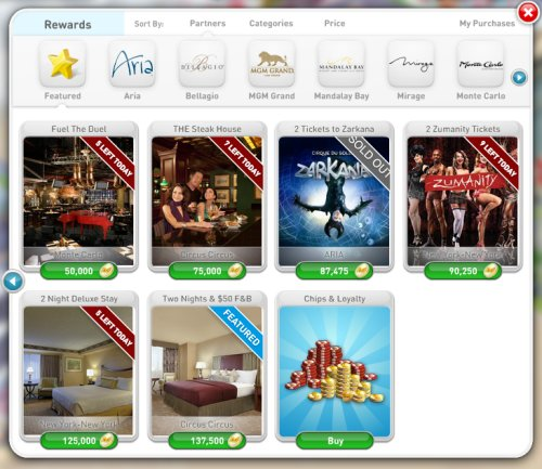 MyVegas Rewards - Redeeming MyVegas Rewards