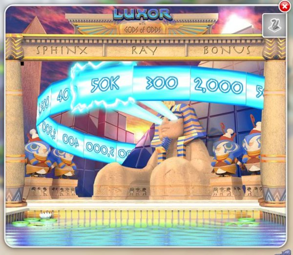 Luxor - Sphinx-Ray Bonus Game - from the new MyVegas Game - Let The Chips Fall | LetTheChipsFall.com