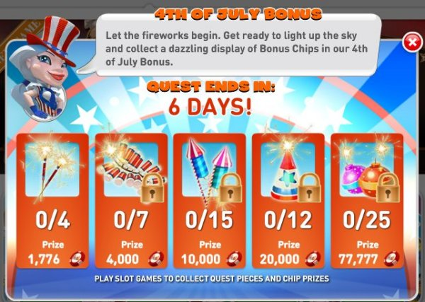 MyVegas Bonus Game for the Fourth of July - LetTheChipsFall.com