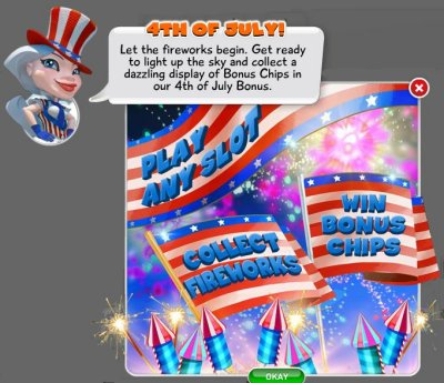Fourth of July MyVegas Bonus Game | Let The Chips Fall | LetTheChipsFall.com