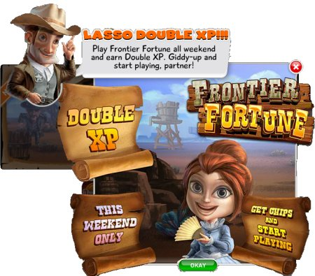 Double XP Points on Frontier Fortune - Let The Chips Fall - Free Online Slot Games - Vegas Comps