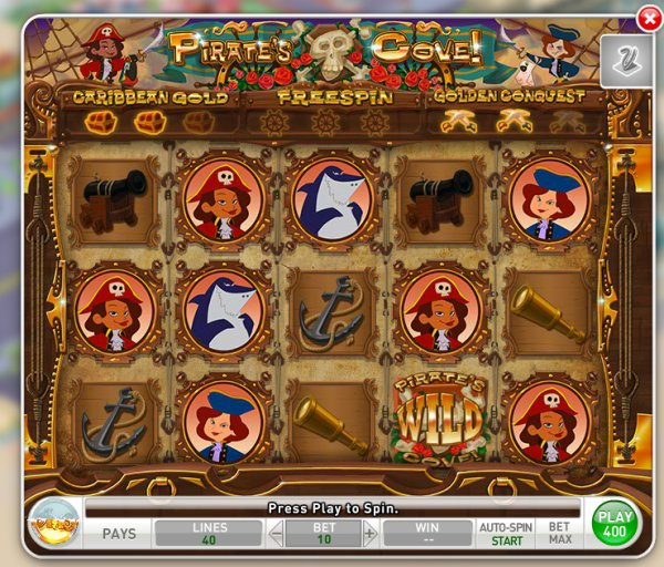 Pirate's Cove - MyVegas Slot Game