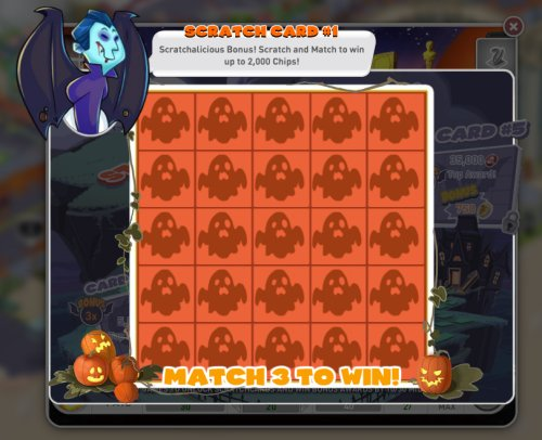Halloween Scratch Card
