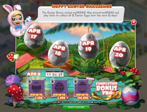 Hoppy Easter Challenge - MyVegas Facebook | LetTheChipsFall.com