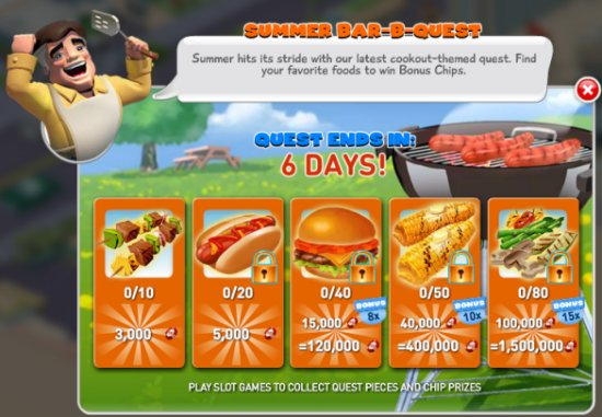 Summer BBQ Quest | How To Play MyVegas | LetTheChipsFall.com